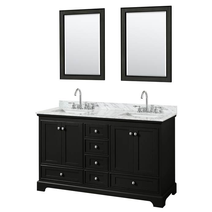 "Deborah 60"" Double Bathroom Vanity in Dark Espresso WC-2020-60-DBL-VAN-DES"