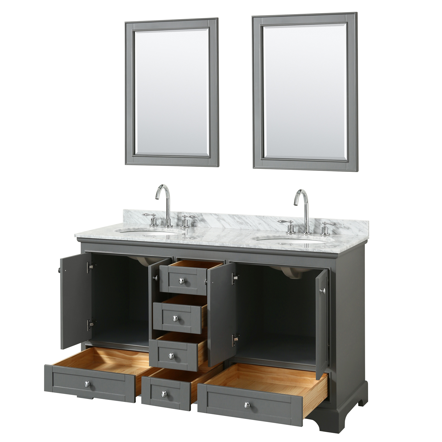 "Deborah 60"" Double Bathroom Vanity By Wyndham Collection"