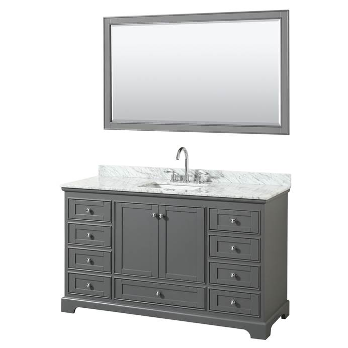 "Deborah 60"" Single Bathroom Vanity in Dark Gray WC-2020-60-SGL-VAN-DKG"