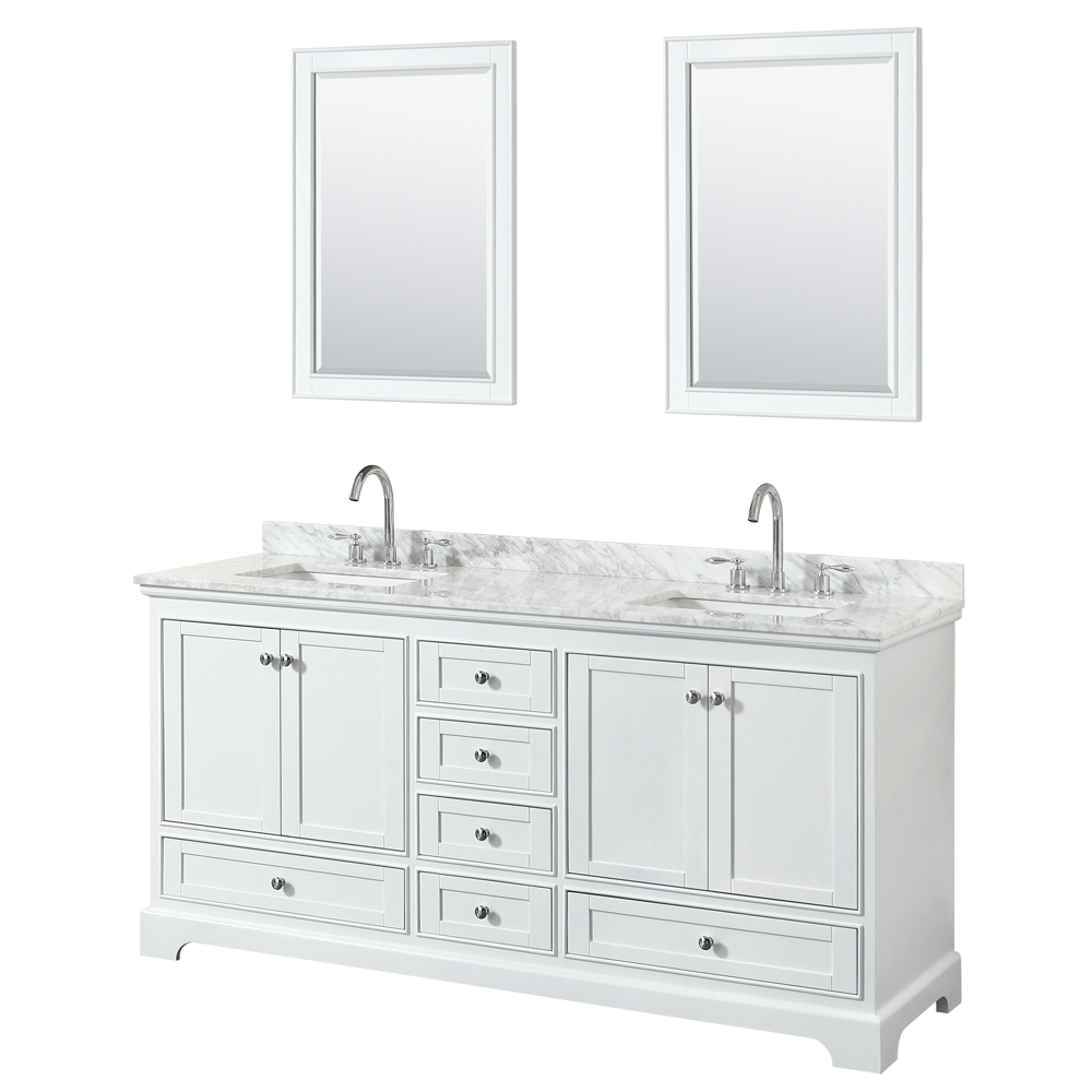 Deborah 72 Double Bathroom Vanity In White Free Shipping Modern Bathroom