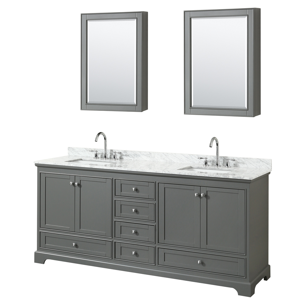 Deborah 80 Double Bathroom Vanity By Wyndham Collection Dark Gray Free Shipping Modern
