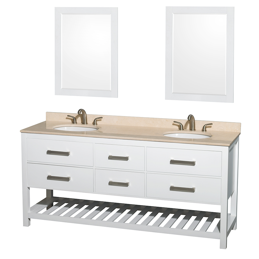 "Wyndham Bathroom Vanities: Natalie 72"" Double Bathroom Vanity By Wyndham Collection"