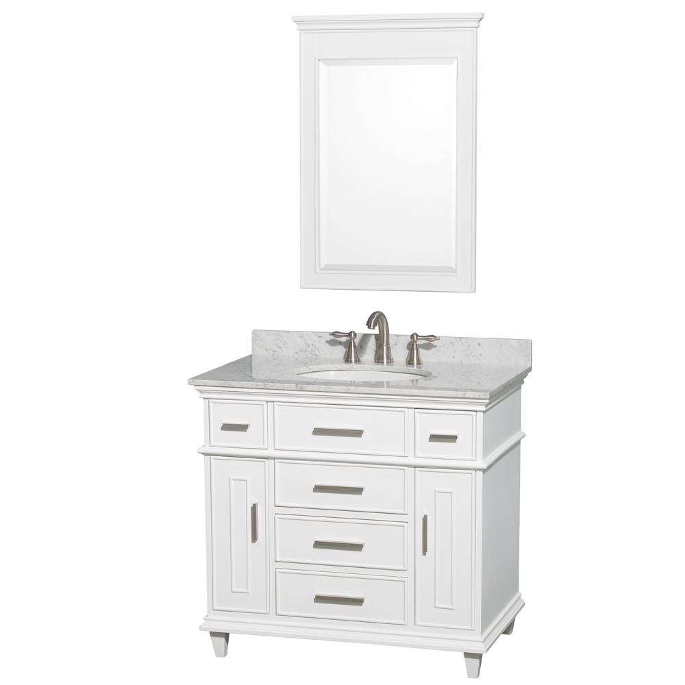 Berkeley 36 Single Bathroom Vanity By Wyndham Collection White
