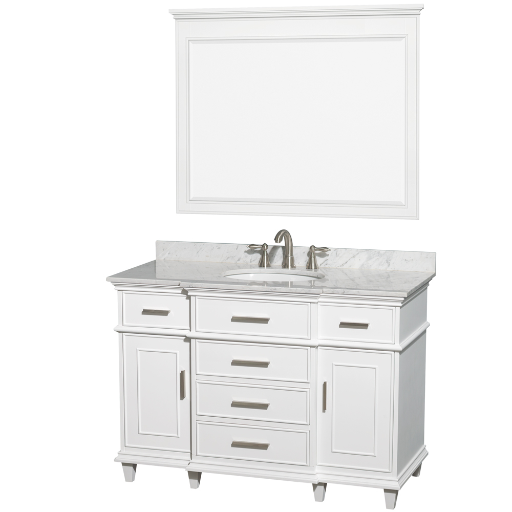 charming birch bathroom vanity cabinets. Berkeley 48  Single Bathroom Vanity by Wyndham Collection White Free Shipping Modern