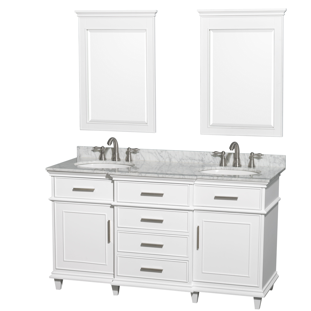 Berkeley 60 Double Bathroom Vanity By Wyndham Collection White Free Shipping Modern Bathroom