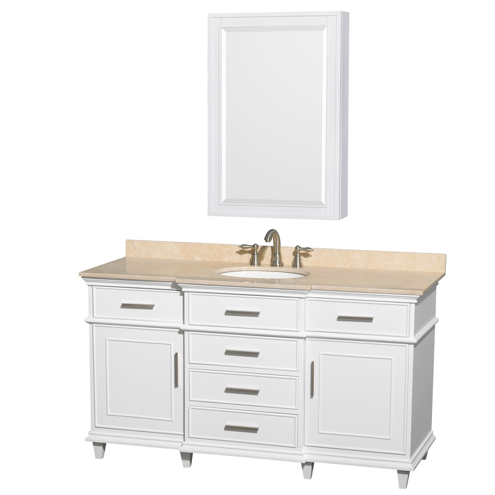"Wyndham Bathroom Vanities: Berkeley 60"" Single Bathroom Vanity By Wyndham Collection"