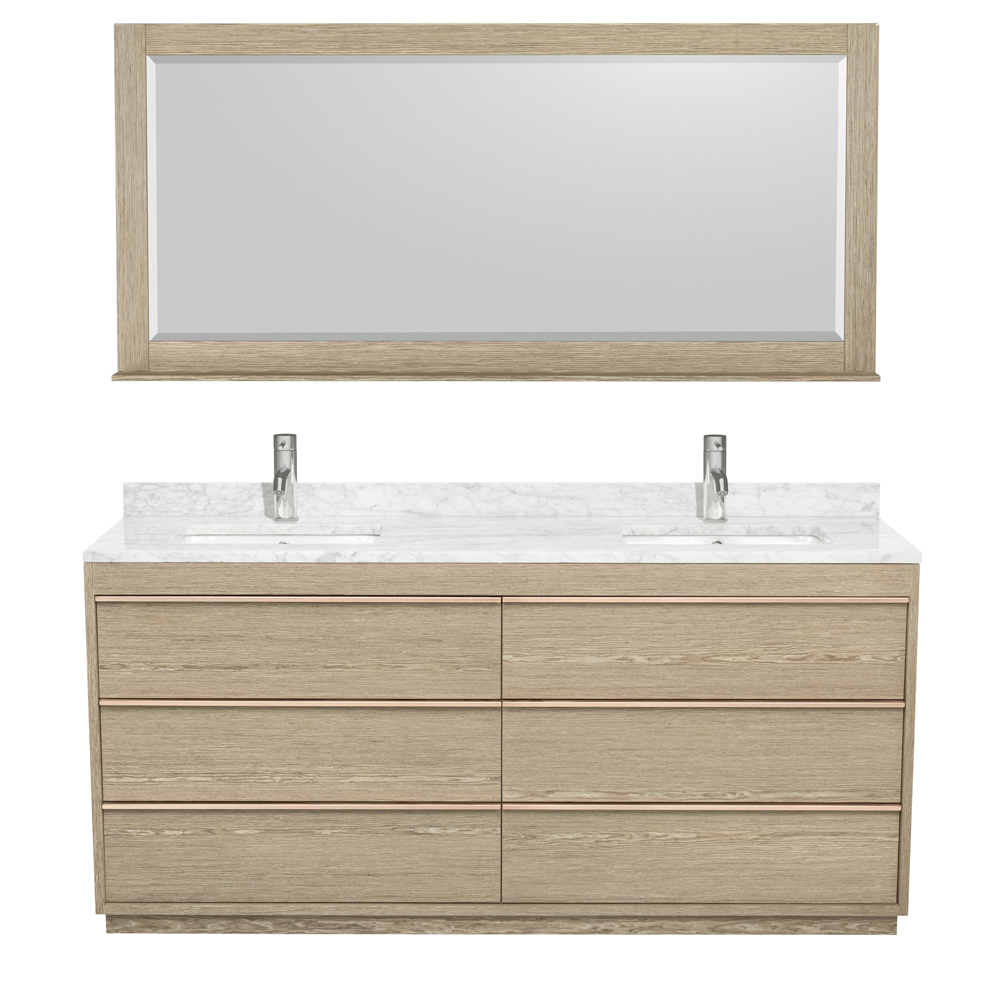 Naya 72 Double Bathroom Vanity By Wyndham Collection