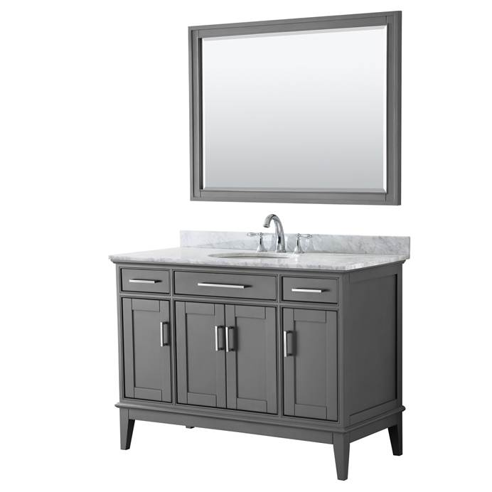 "Margate 48"" Single Bathroom Vanity by Wyndham Collection - Dark Gray WC-3030-48-SGL-VAN-DKG"
