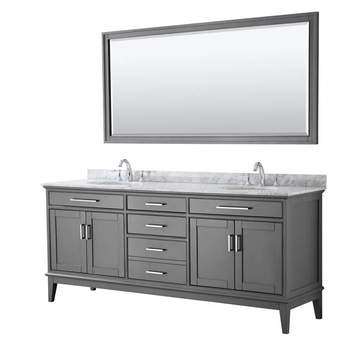 "Margate 80"" Double Bathroom Vanity by Wyndham Collection - Dark Gray WC-3030-80-DBL-VAN-DKG"