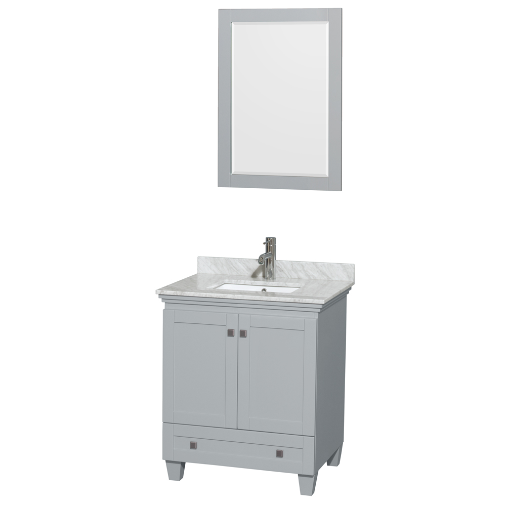 Acclaim 30 in. Single Bathroom Vanity by Wyndham Collection, Oyster Gray WC-CG8000-30-SGL-VAN-OYS by Wyndham Collection®