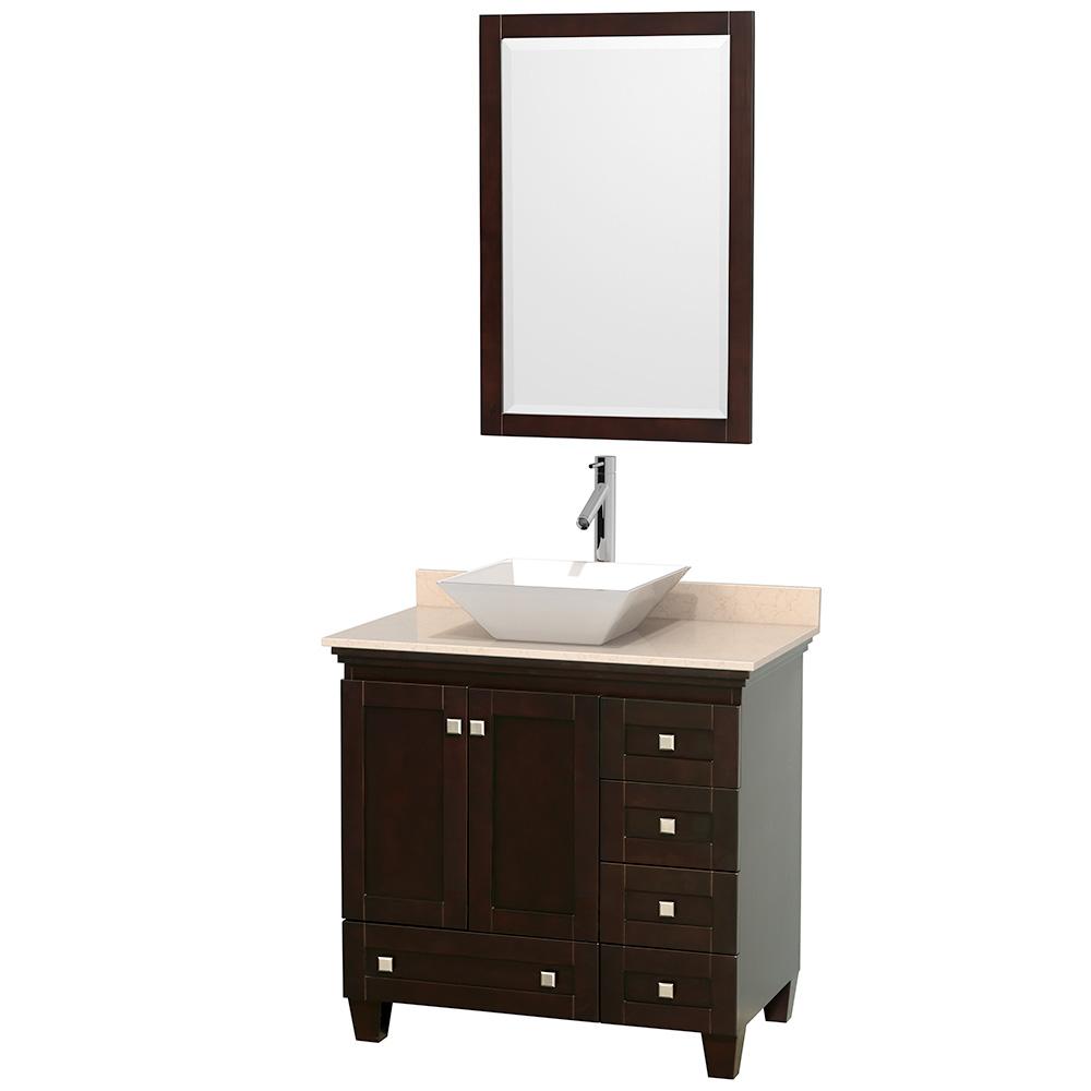 "Acclaim 36"" Single Bathroom Vanity for Vessel Sink by Wyndham Collection, Espresso WC-CG8000-36-SGL-VAN-ESP by Wyndham Collection®"