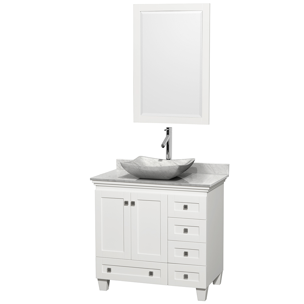 Acclaim 36 Single Bathroom Vanity For Vessel Sink White