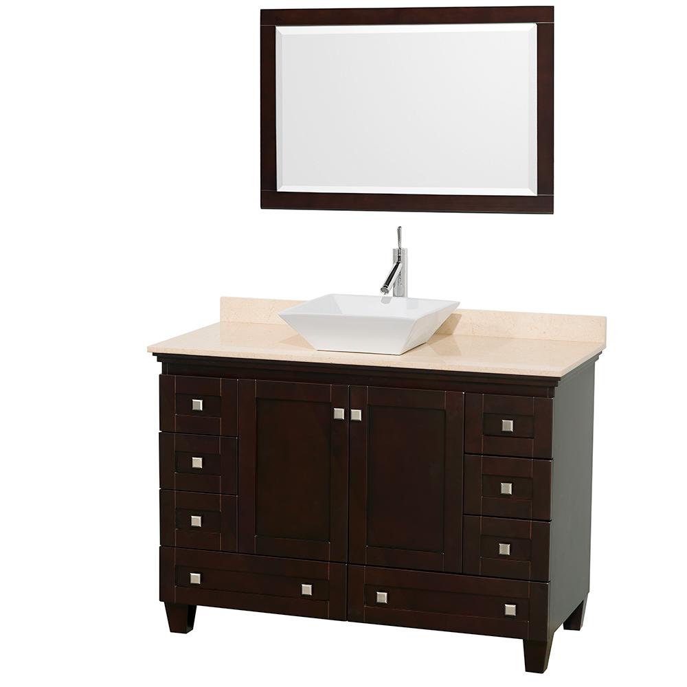 "Acclaim 48"" Single Bathroom Vanity for Vessel Sink by Wyndham Collection, Espresso WC-CG8000-48-SGL-VAN-ESP by Wyndham Collection®"