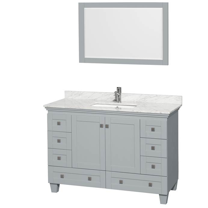 Acclaim 48 in. Single Bathroom Vanity by Wyndham Collection - Oyster Gray WC-CG8000-48-SGL-VAN-OYS-