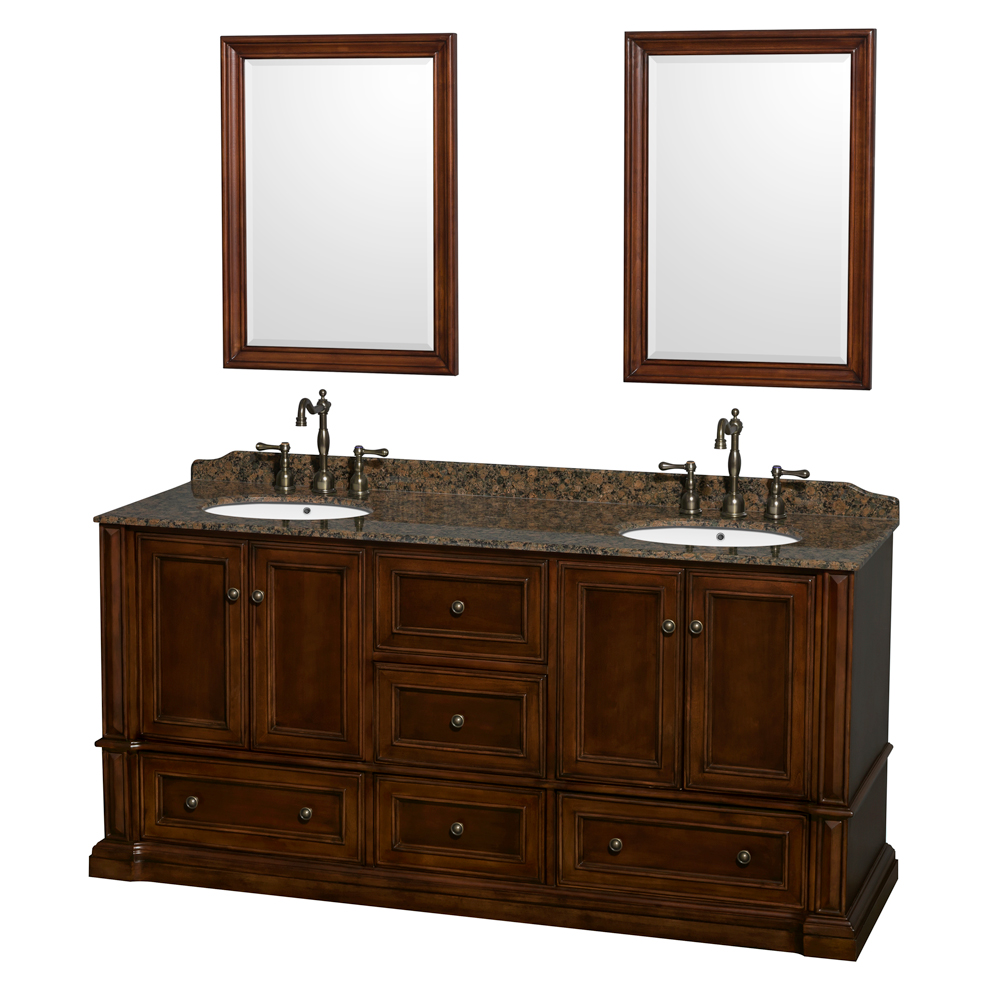 "Wyndham Bathroom Vanities: Rochester 72"" Double Bathroom Vanity By Wyndham Collection"