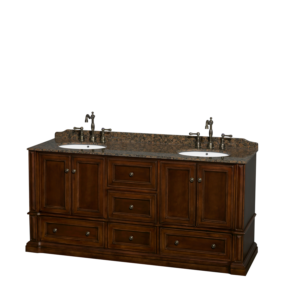 "Rochester 72"" Double Bathroom Vanity by Wyndham Collection ..."