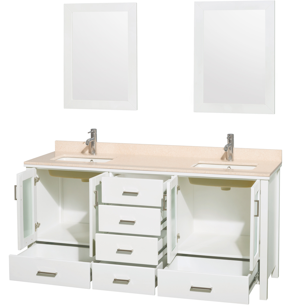 "Lucy 72"" Double Bathroom Vanity Set Undermount by Wyndham ..."