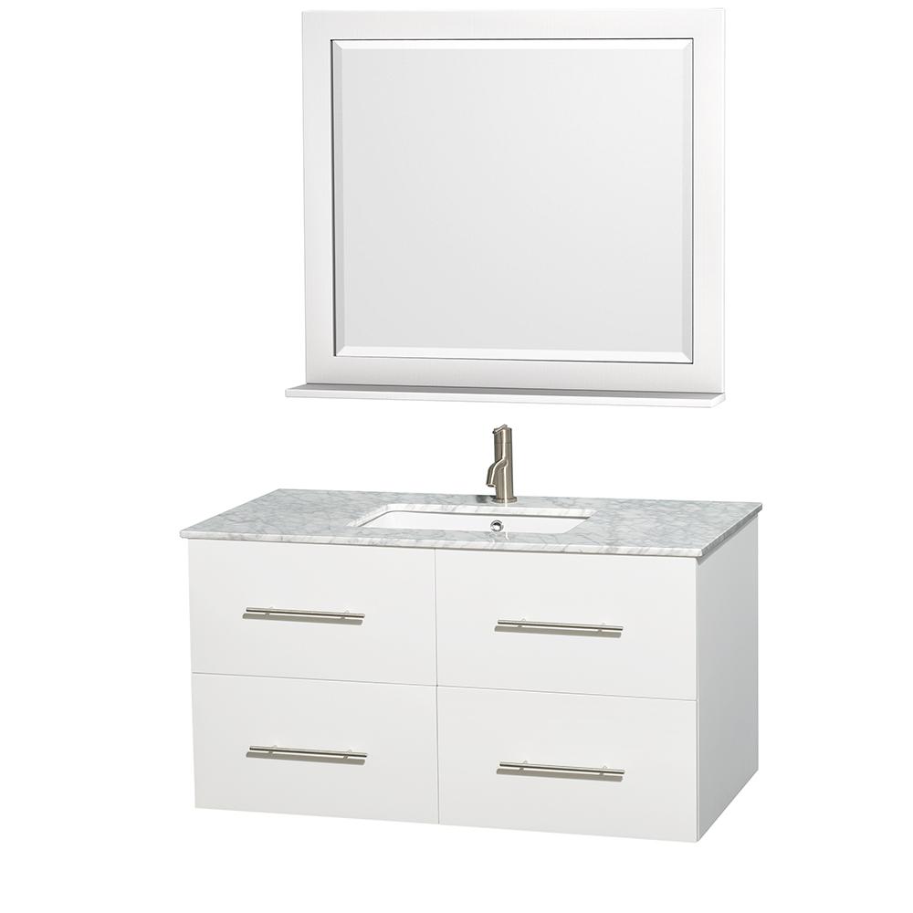 Centra 42 Single Bathroom Vanity For Undermount Sinks By Wyndham