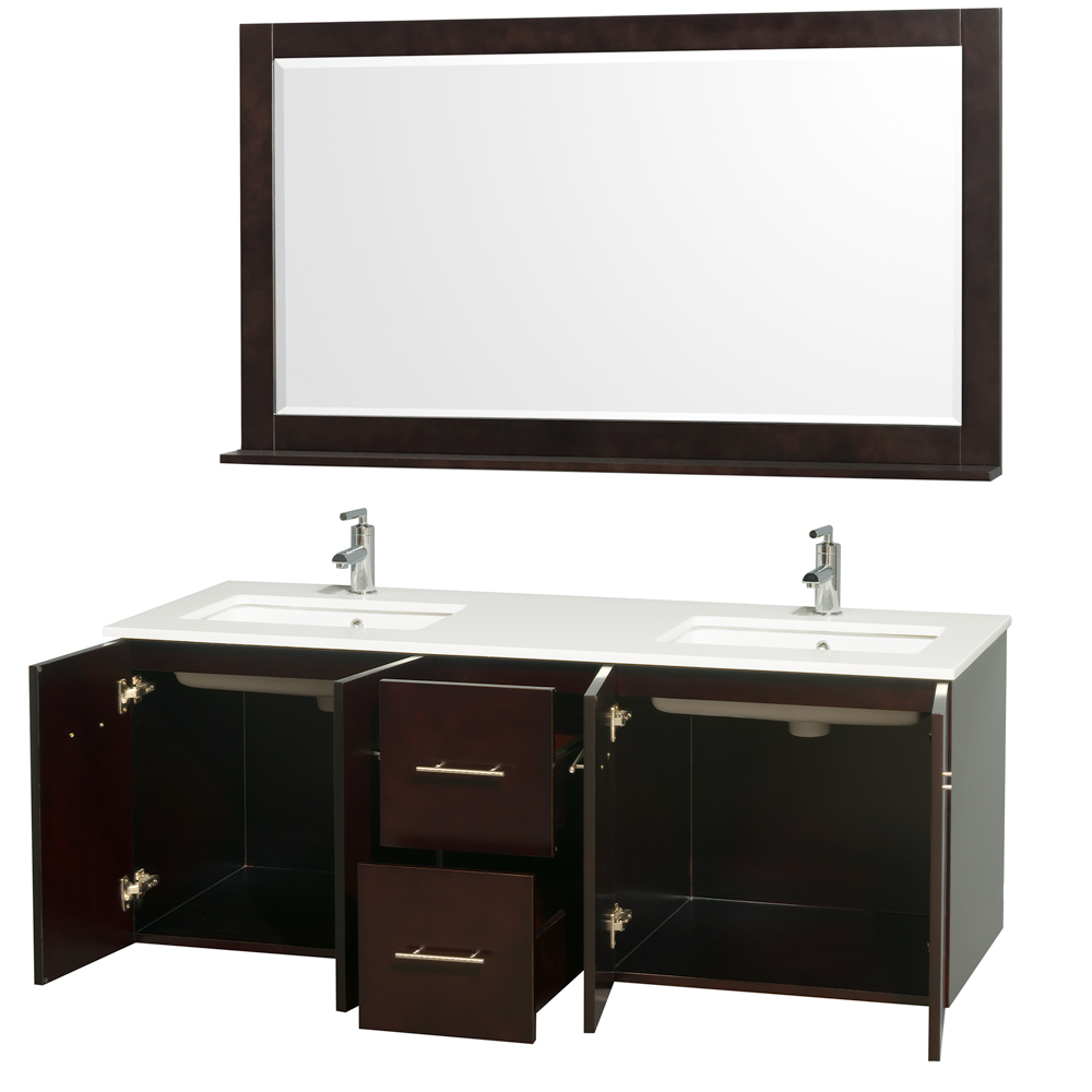 "Wyndham Bathroom Vanities: Centra 60"" Double Bathroom Vanity For Undermount Sinks By"