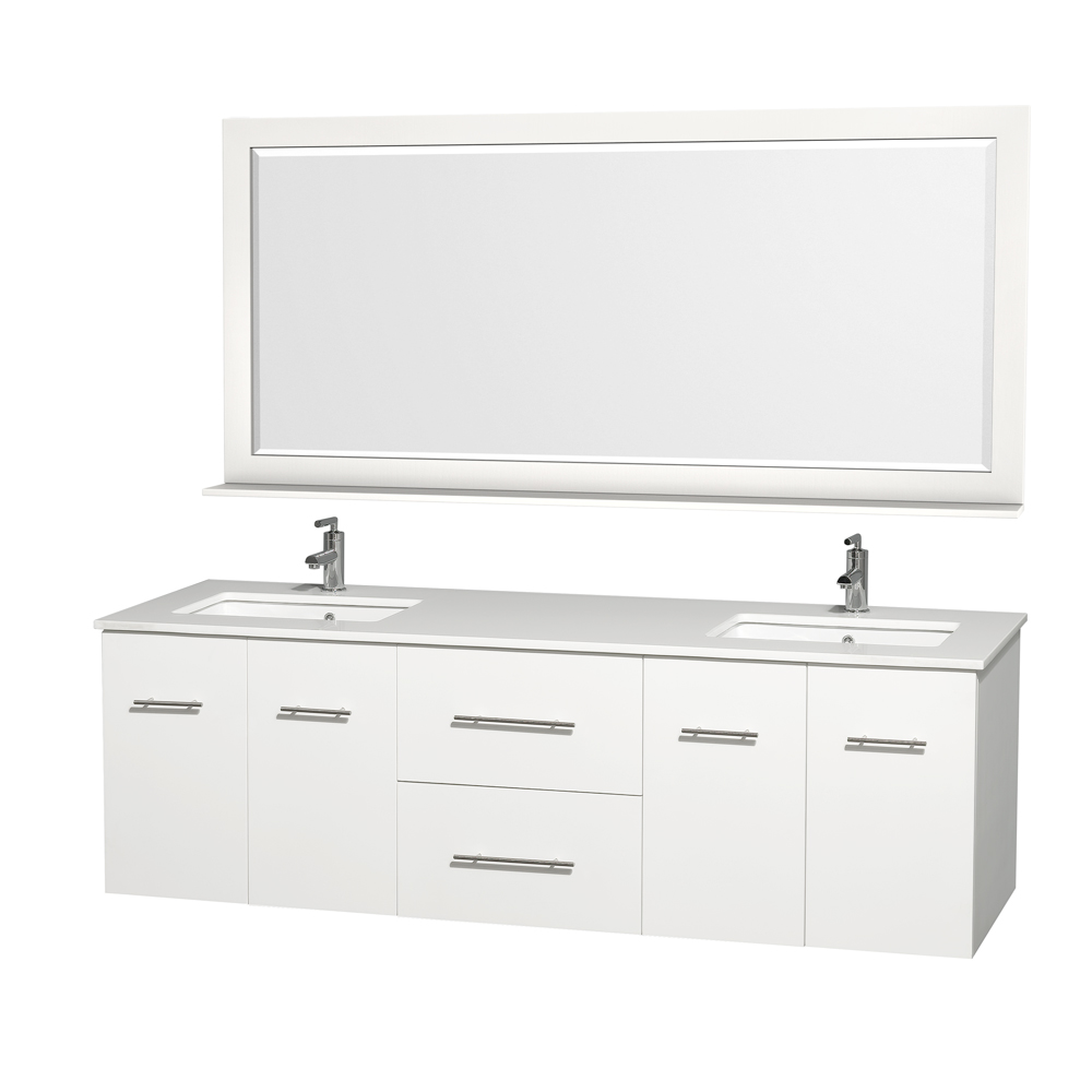 centra 72 double bathroom vanity for undermount sinks by. Black Bedroom Furniture Sets. Home Design Ideas