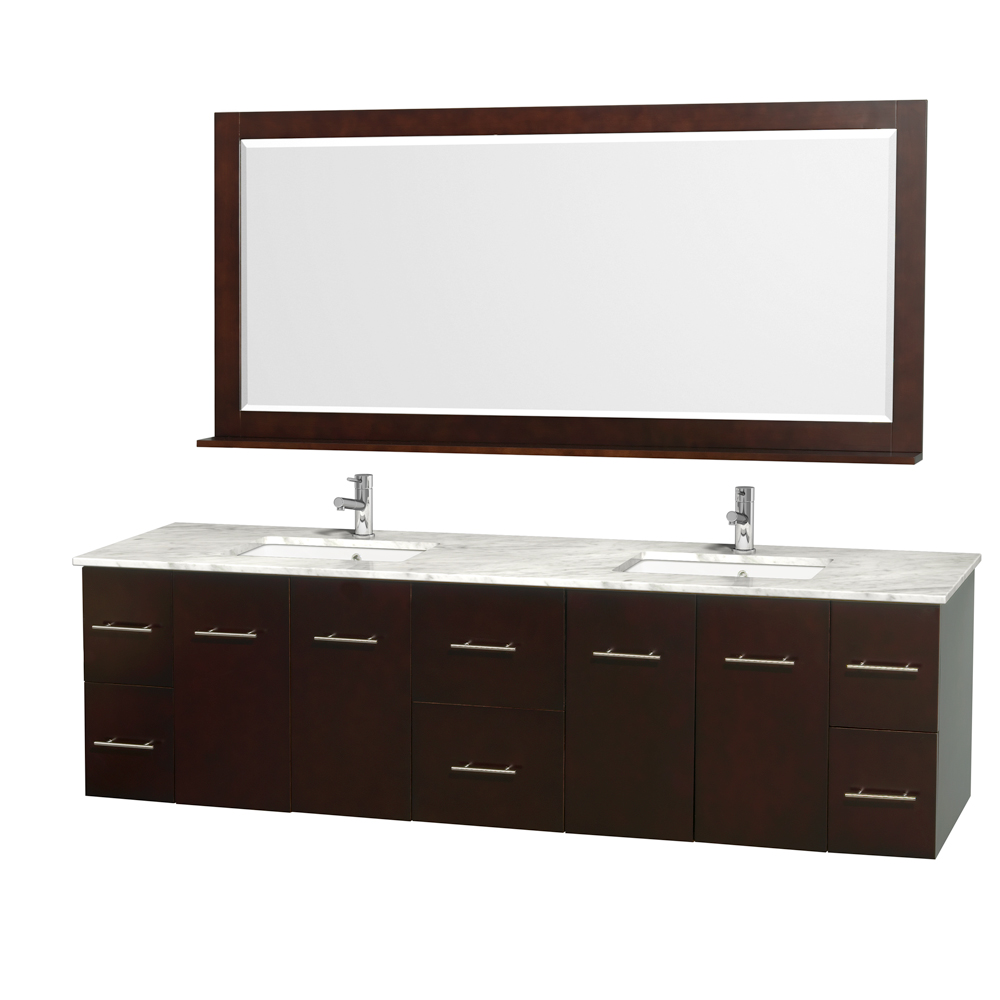 Centra 80 Quot Double Bathroom Vanity For Undermount Sinks By Wyndham Collection Espresso Free