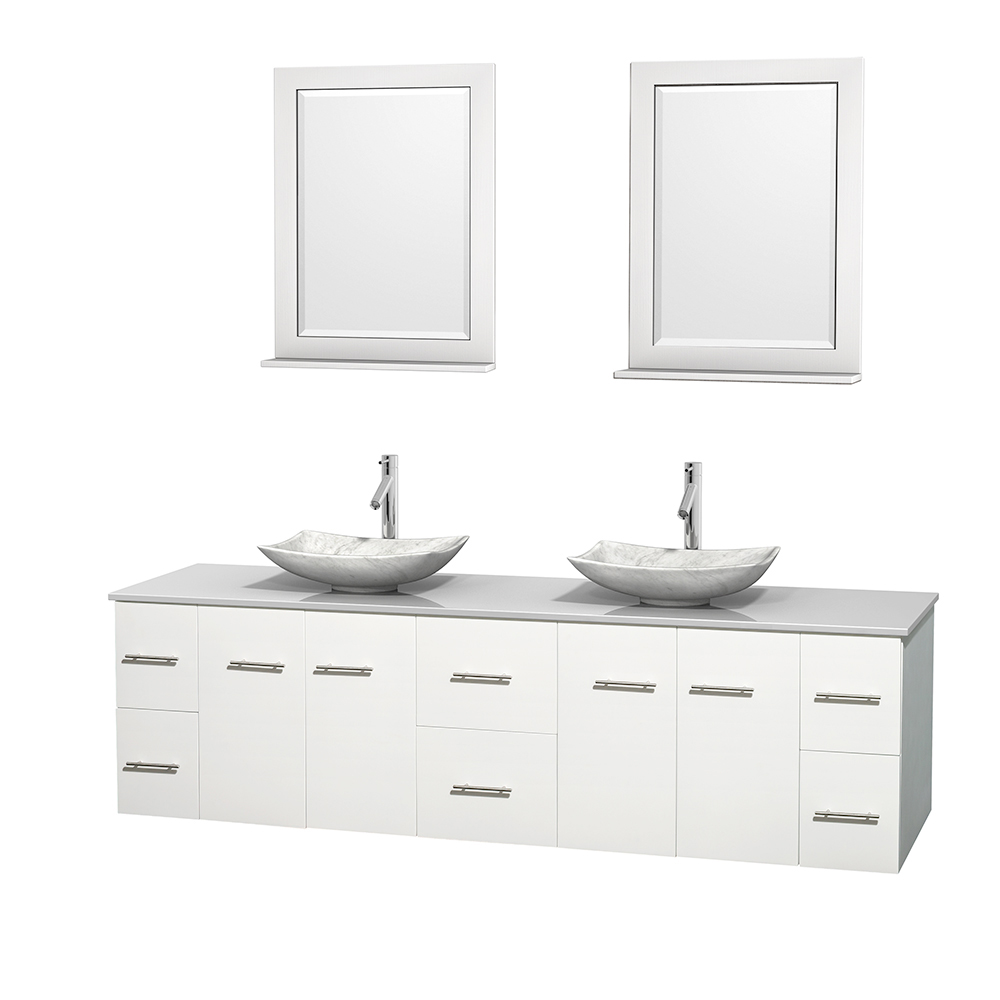 22 quot rioni 22 espresso bathroom vanity bathroom vanities ardi - Centra 80 Double Bathroom Vanity For Vessel Sinks By Wyndham Collection Matte White