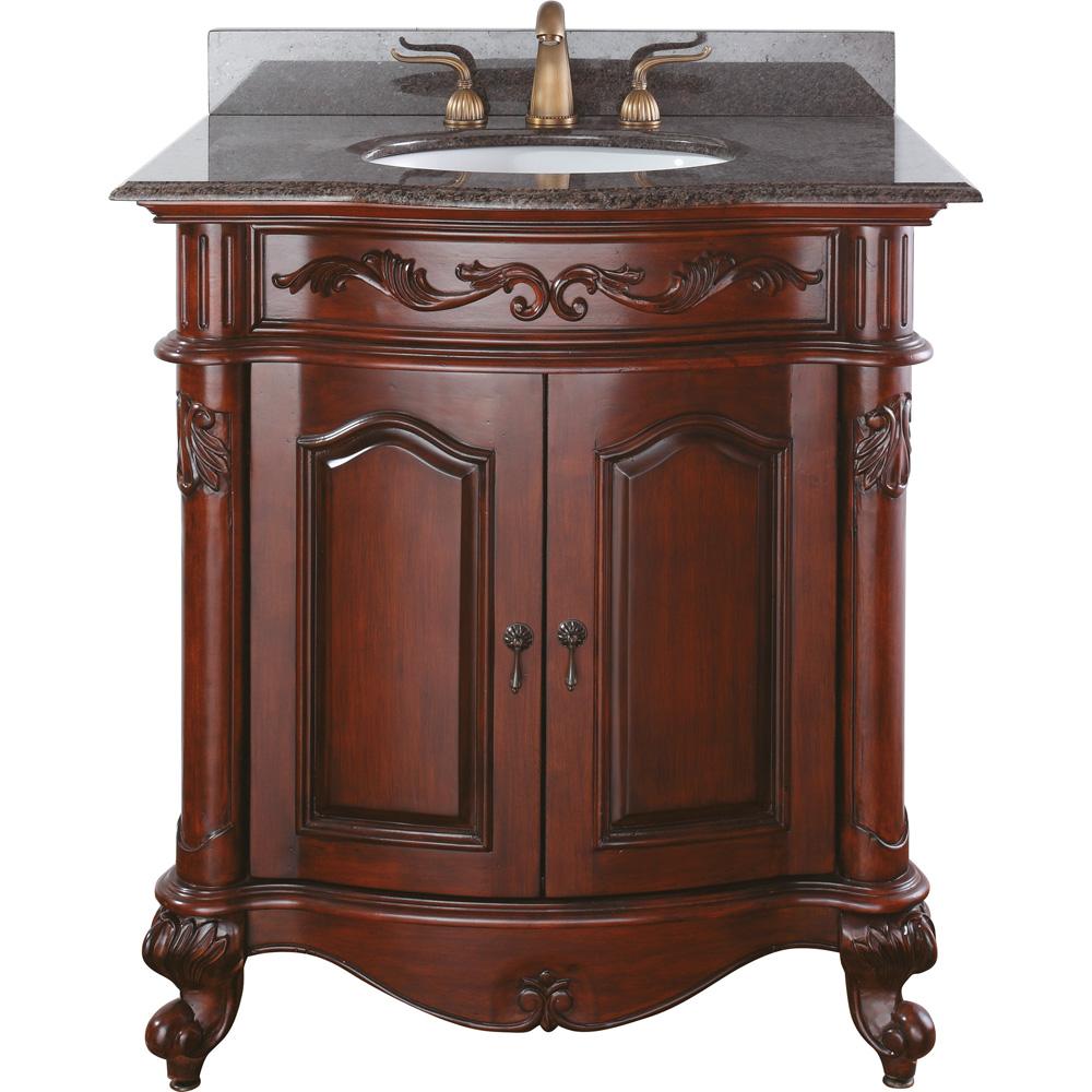 Avanity provence 31 single bathroom vanity antique cherry free shipping modern bathroom for Cherry wood bathroom furniture