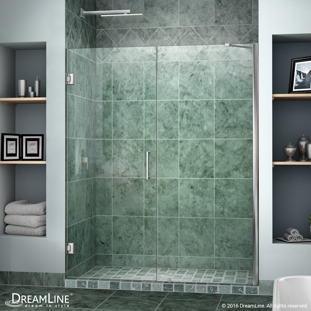 Bath Authority DreamLine Unidoor Frameless Hinged Shower Door (53 ...