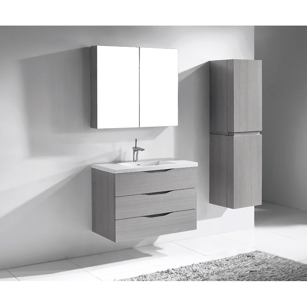 Madeli Bolano 36 Quot Bathroom Vanity Ash Grey Old Free
