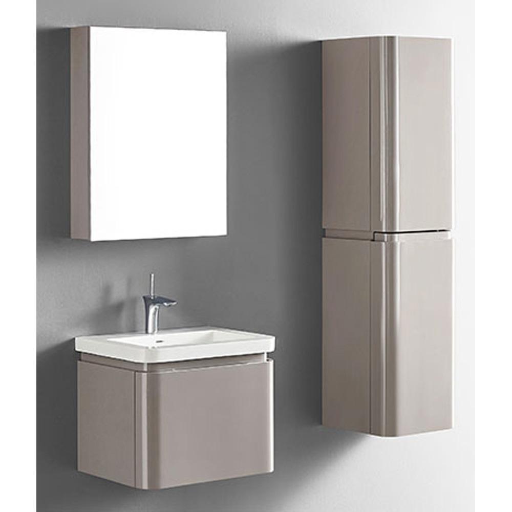 Madeli Euro 24 Quot Bathroom Vanity For Integrated Basin Silk Free Shipping Modern Bathroom