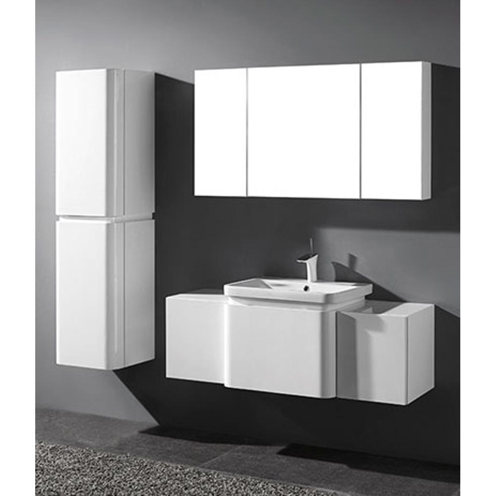 "Madeli Euro 50"" Bathroom Vanity for Integrated Basin, Glossy White B930-24-002-GW, 2X-UC930-12-007-GW by Madeli"