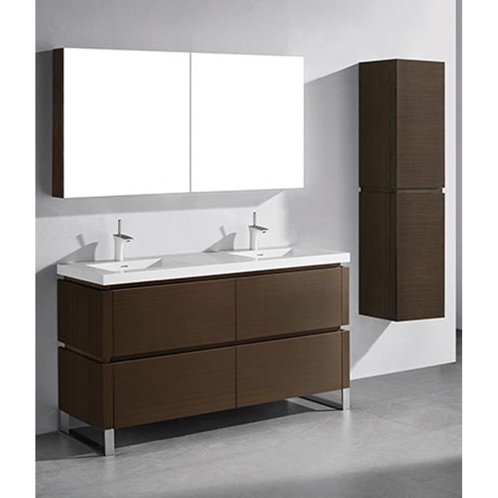 Madeli Metro 60 Quot Double Bathroom Vanity For Integrated