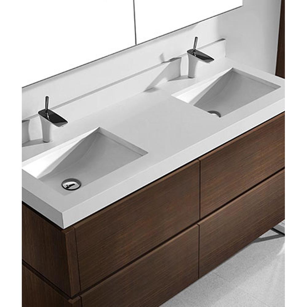 Madeli Metro 60 Quot Double Bathroom Vanity For Quartzstone