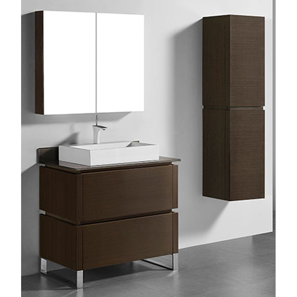 Madeli Metro 36 Quot Bathroom Vanity For Glass Counter And