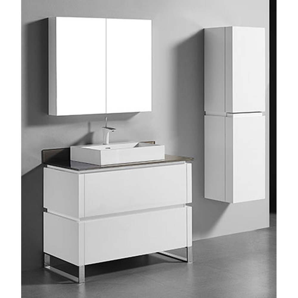 Madeli Metro 42 Quot Bathroom Vanity For Glass Counter And