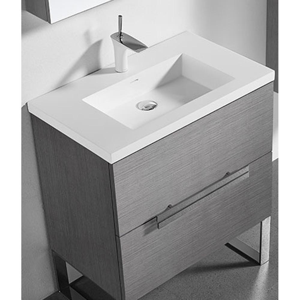 madeli soho 30 bathroom vanity for integrated basin ash. Black Bedroom Furniture Sets. Home Design Ideas