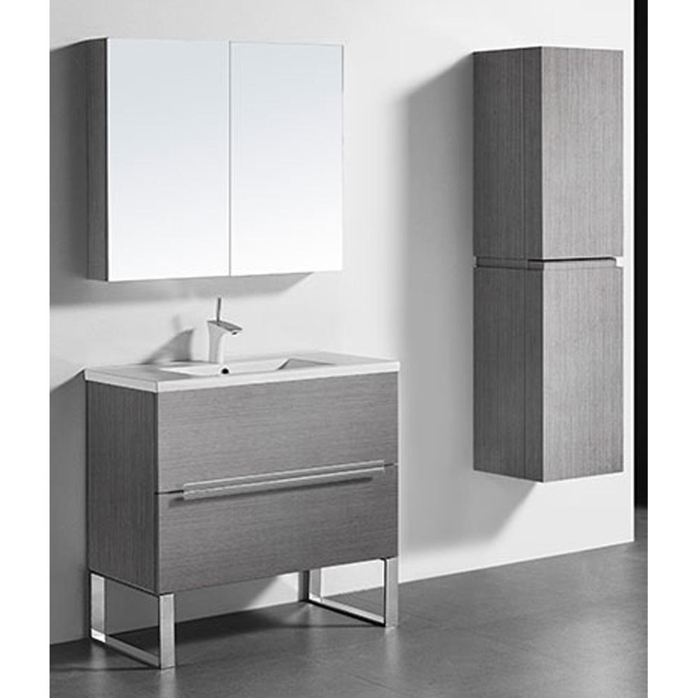 Madeli Soho 36 Quot Bathroom Vanity For Integrated Basin Ash