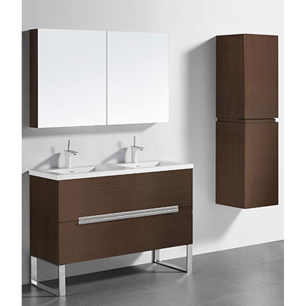 Madeli Soho 48 Double Bathroom Vanity For Integrated Basins Walnut Free Shipping Modern
