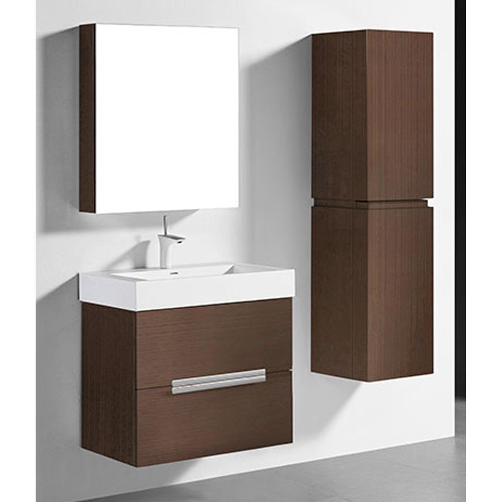 Madeli Urban 30 Quot Bathroom Vanity For Integrated Basin Walnut Free Shipping Modern Bathroom