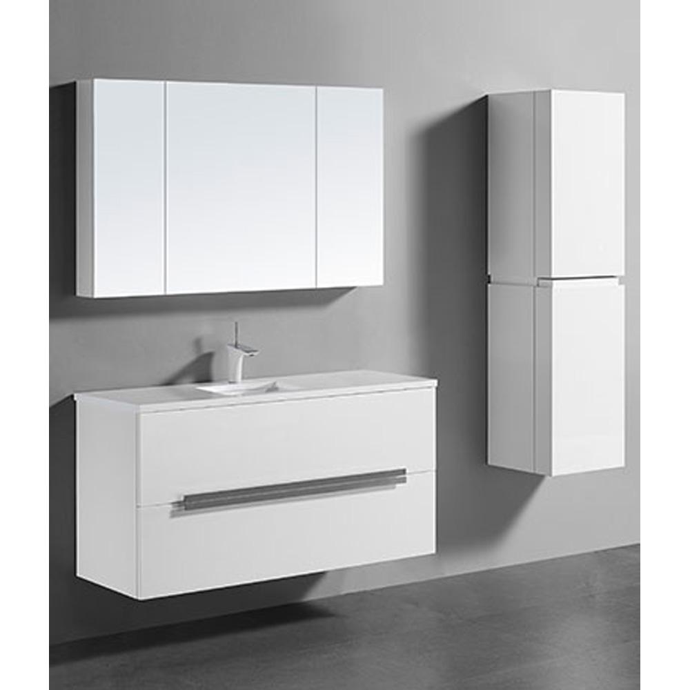 Madeli urban 48 single bathroom vanity for quartzstone for Bathroom cabinets urban ladder
