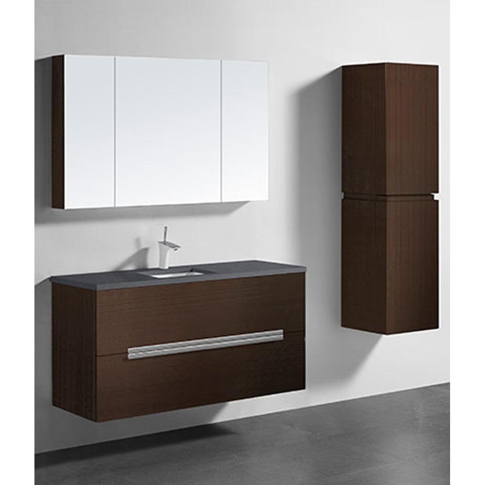 Madeli Urban 48 Quot Single Bathroom Vanity For Quartzstone Top Walnut Free Shipping Modern