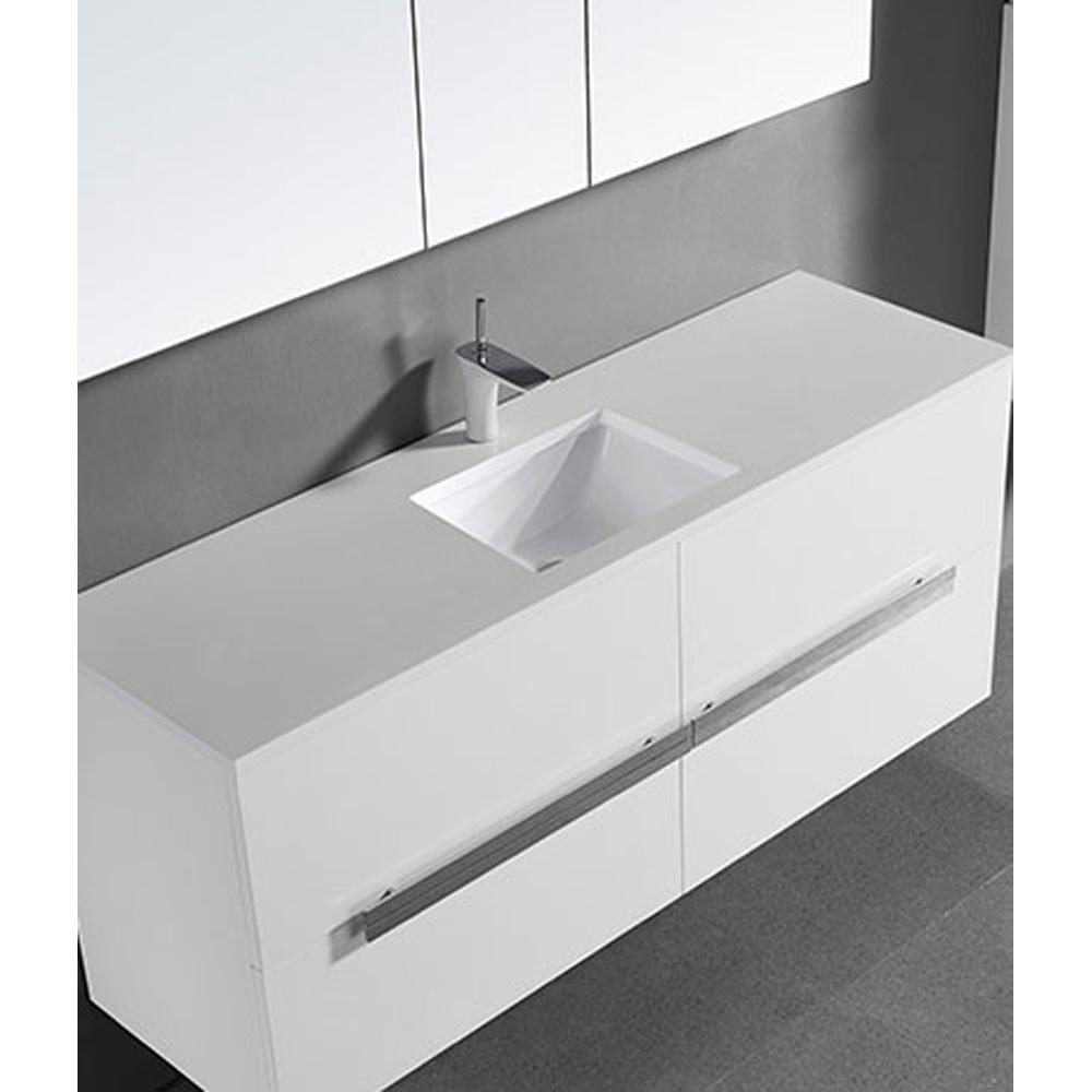 Madeli Urban 60 Quot Single Bathroom Vanity For Quartzstone Top Glossy White Free Shipping