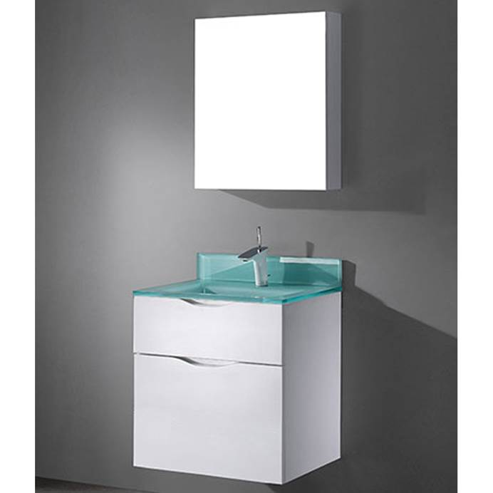 "Madeli Bolano 24"" Bathroom Vanity for Integrated Basin - Glossy White B100-24-022-GW"
