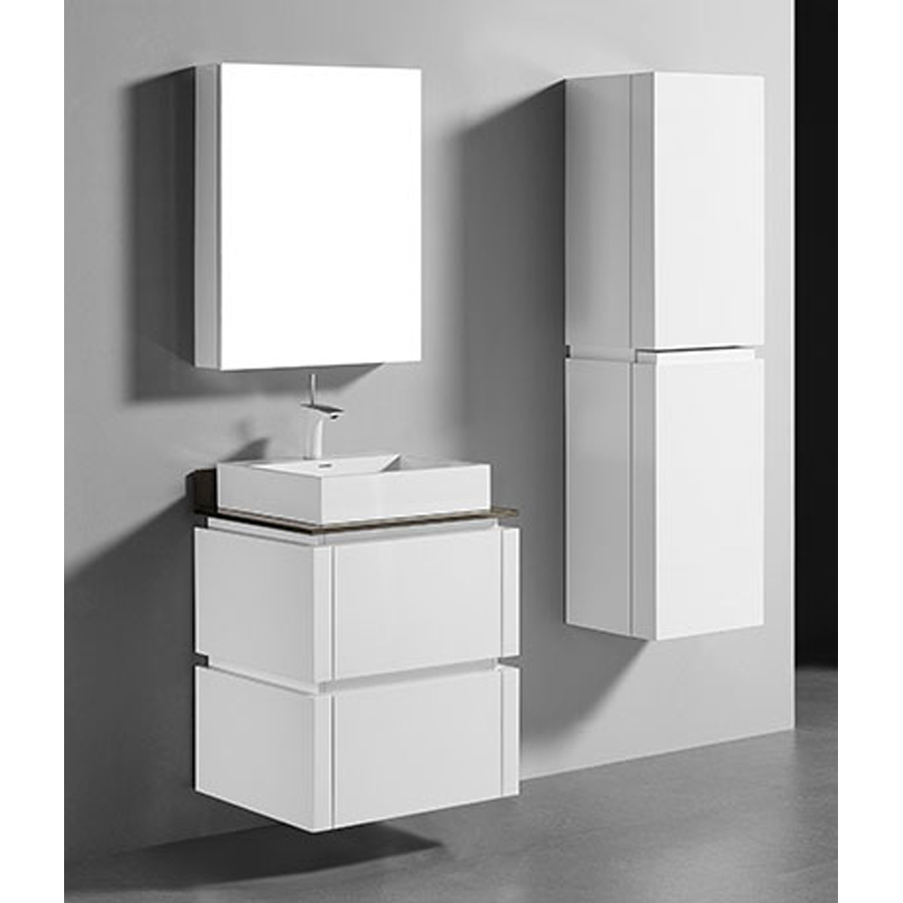 Madeli Cube 24 Quot Wall Mounted Bathroom Vanity For Glass