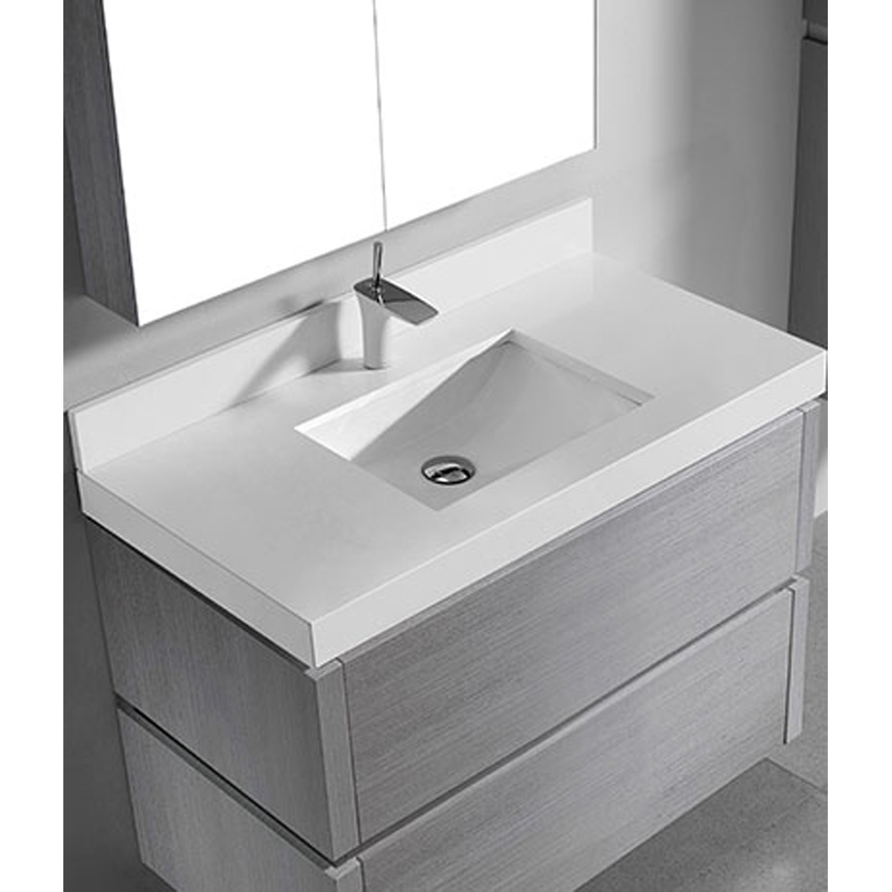 Madeli Cube 42 Quot Wall Mounted Bathroom Vanity For