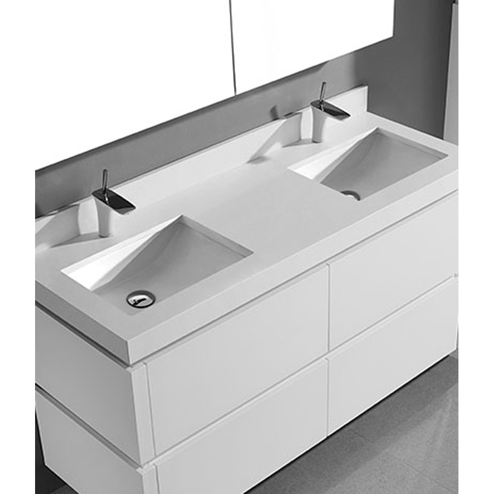 Madeli Cube 60 Quot Double Wall Mounted Bathroom Vanity For