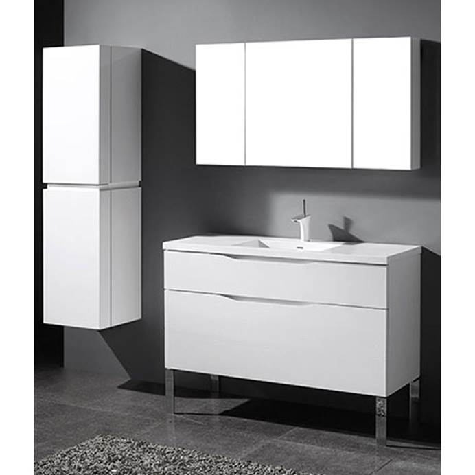 "Madeli Milano 48"" Bathroom Vanity for Integrated Basin - Glossy White B200-48C-021-GW"