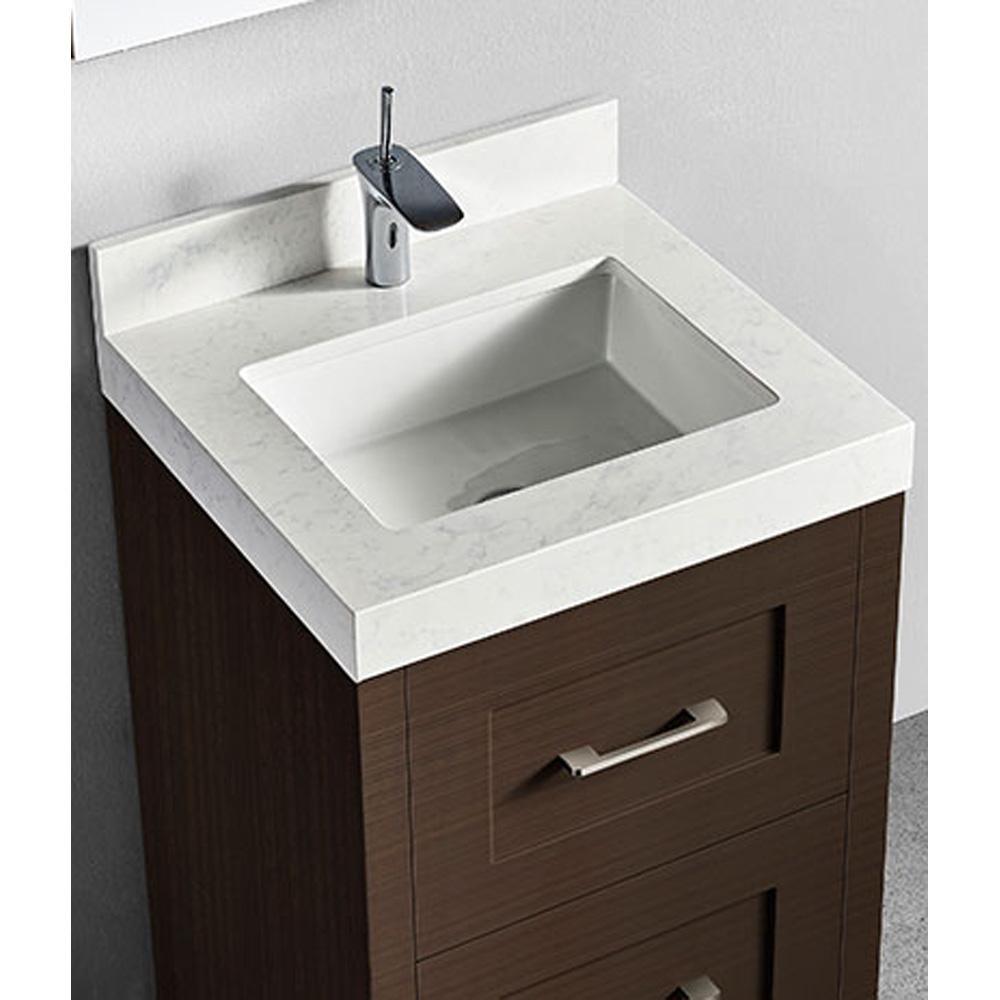 Madeli Retro 24 Quot Bathroom Vanity For Quartzstone Top Walnut Free Shipping Modern Bathroom