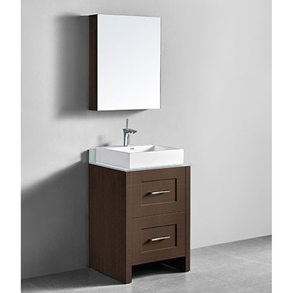 Madeli Retro 24 Quot Bathroom Vanity For Glass Counter And