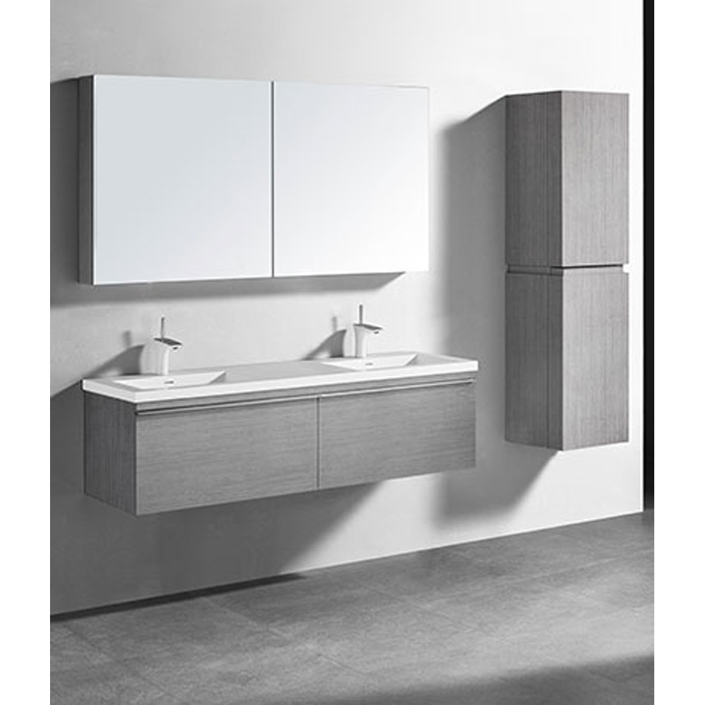 Madeli Venasca 60 Double Bathroom Vanity For Integrated Basin Ash Grey Free Shipping